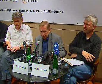 David Radok, Václav Havel a Ondřej Hrab