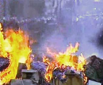 Hořící odpadky