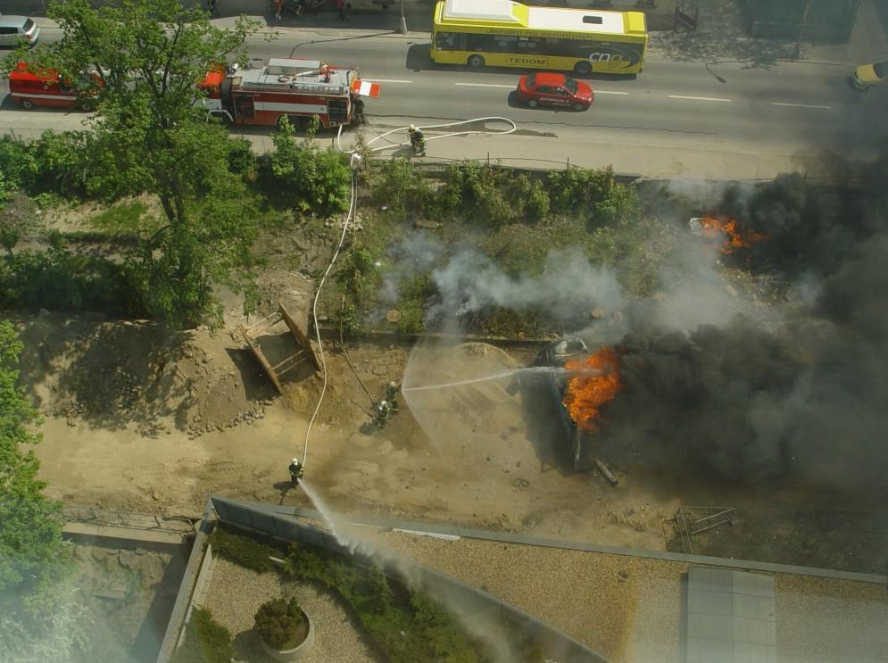 Požár Avie v Liberci