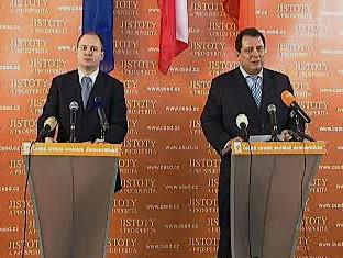 Jiří Paroubek a Michal Hašek