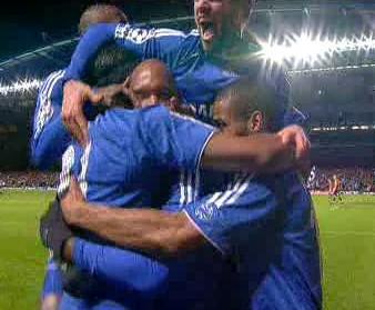 Radost fotbalistů Chelsea