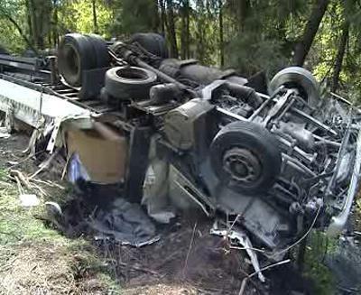 Dopravní nehoda kamionu