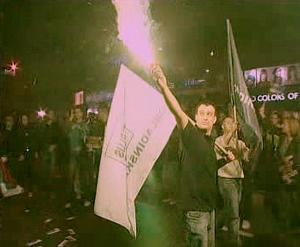 Povolební oslavy v Srbsku