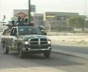 Policie v bagdádské čtvrti Sadr