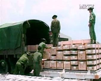 Humanitární pomoc pro Barmu.