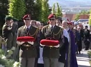 Pohřeb vojáka padlého v Afghánistánu