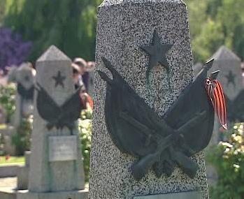 Hroby padlých sovětských vojáků