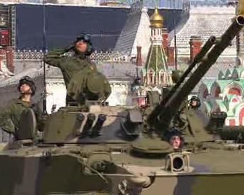Ruská vojenská přehlídka