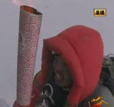 Olympijská pochodeň na Mount Everestu