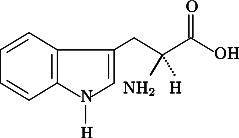 Vzorec aminokyseliny tryptofanu