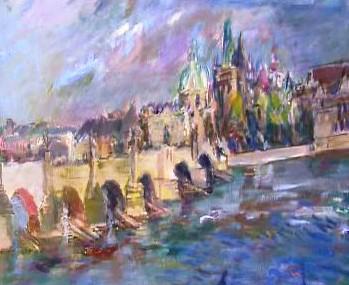 Oskar Kokoschka - Pohled na Karlův most