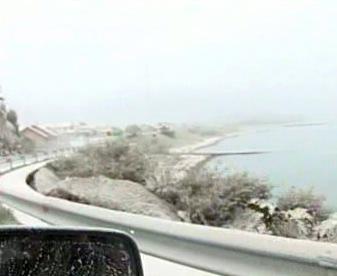 Pobřeží Chile zasažené sopečným popelem