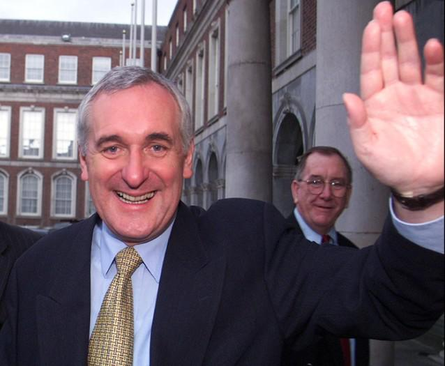 Odstupující irský premiér Bertie Ahern