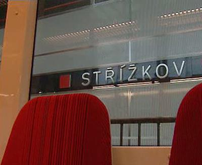 Metro ve stanici Střížkov
