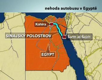 Nehoda autobusu v Egyptě