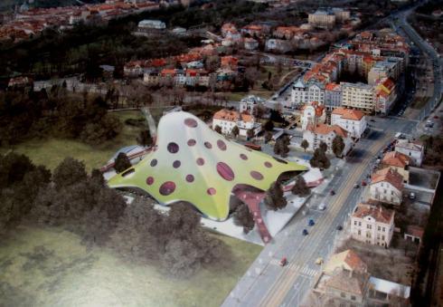 Návrh nové budovy Národní knihovny