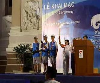 Pochodeň v Ho Či Minově Městě