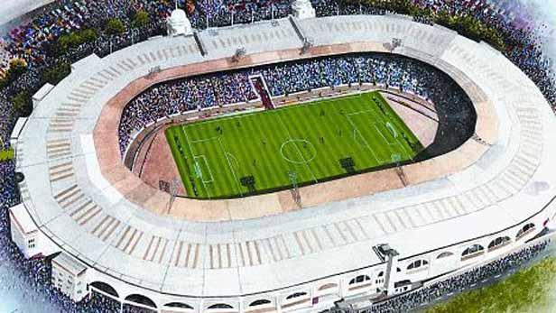 Fotbalový stadion ve Wembley z roku 1923