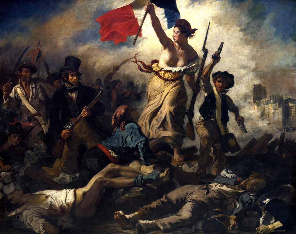 Eugéne Delacroix - Svoboda vede lid na barikády (1830)
