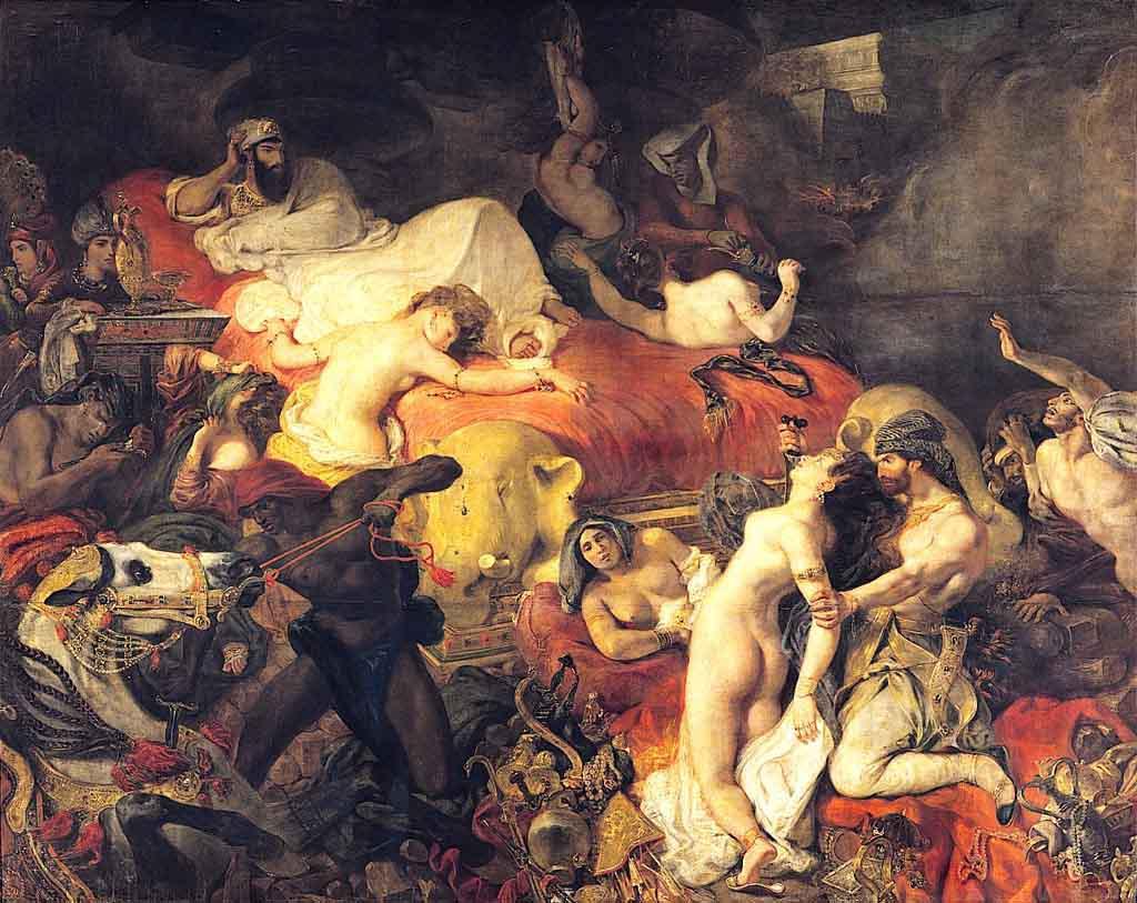 Eugéne Delacroix - Sardanapalova smrt (1827)