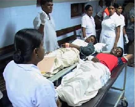 Zranění po výbuchu autobusu na Srí Lance zaplnili blízké nemocnie