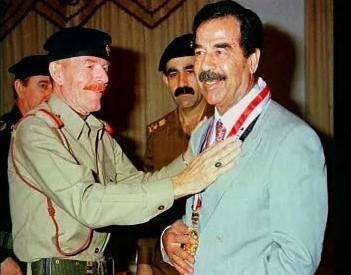 Saddám Husajn a Izzat Ibráhím Dúrí