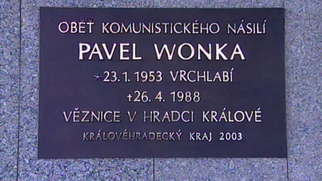 Pamětní deska - Pavel Wonka