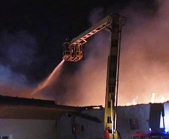 Požár papíren na Havličkobrodsku