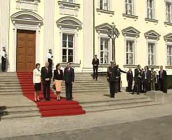 Václav Klaus s chotí na návštěvě Německa