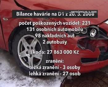 Bilance havárie na D1