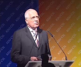 Václav Klaus na sjezdu KDU-ČSL