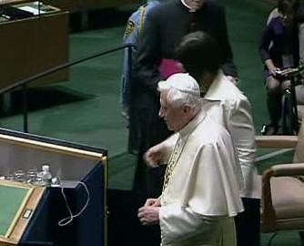 Benedikt XVI. v sídle OSN