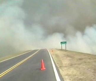 Požár v Argentině