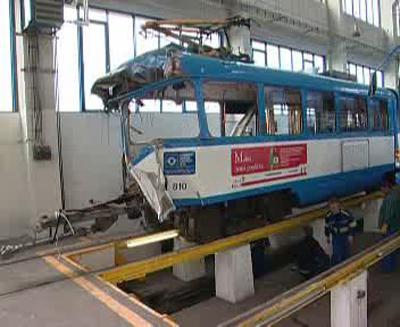Technická prohlídka tramvaje