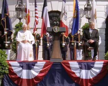 Benedikt XVI. a George Bush