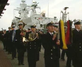 Slavnostní spuštění korvety Braunschweig