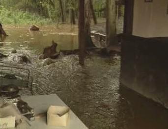 Zaplavený dětský tábor
