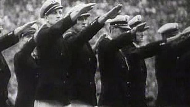 Uvítací ceremoniál OH v Berlíně v roce 1936
