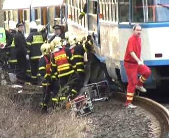 Tragická srážka tramvají
