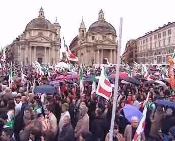 Předvolební míting v Římě