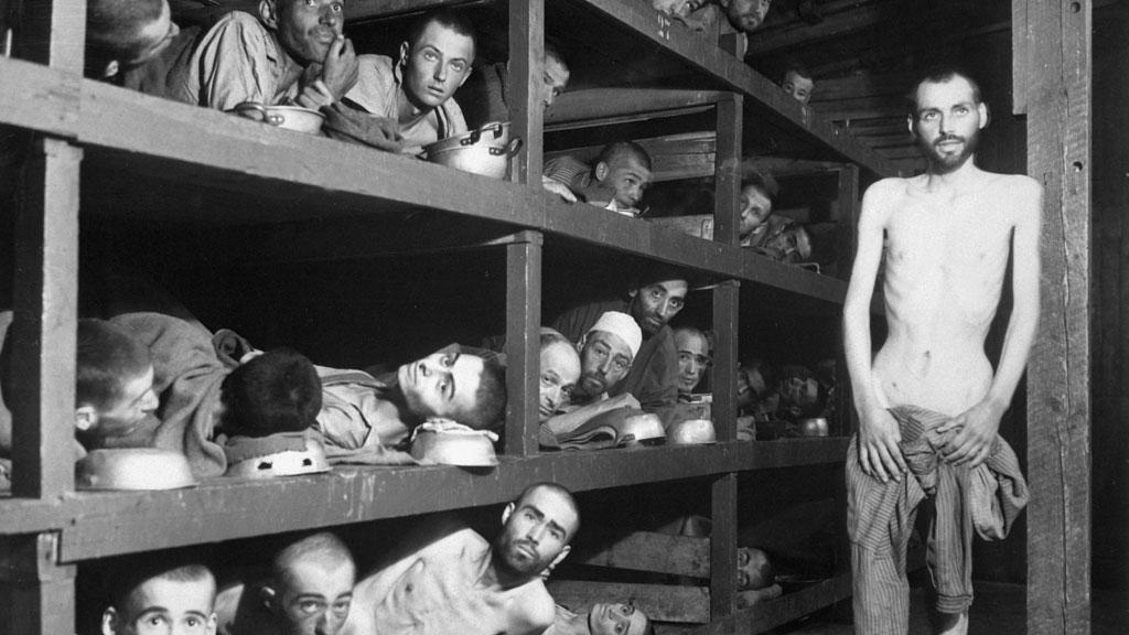 Vězni v koncentračním táboře Buchenwald