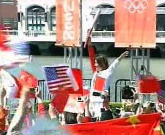 Olympijská pochodeň na cestě po USA
