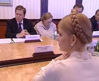 Miloslav Vlček a Julija Tymošenková