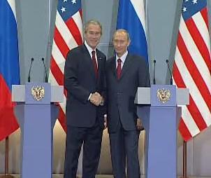 George Bush a Vladimir Putin