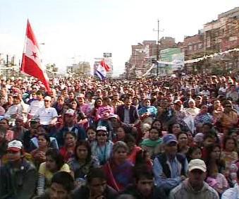 Předvolební mítink v Nepálu