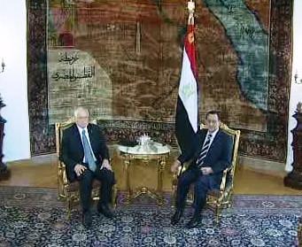Václav Klaus a Husní Mubarak