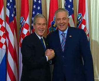 George Bush a Ivo Sanader