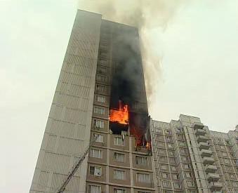 Požár v Moskvě