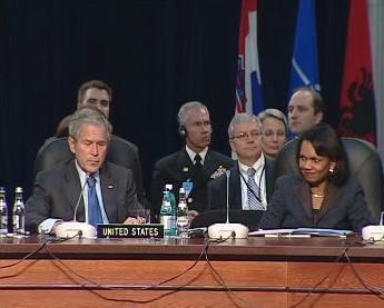 George Bush a Condoleezza Riceová
