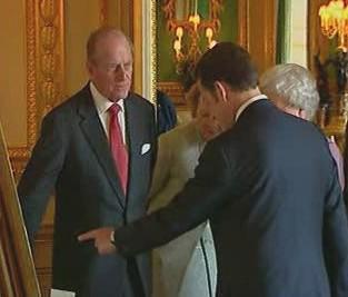 Princ Philip a Nicolas Sarkozy